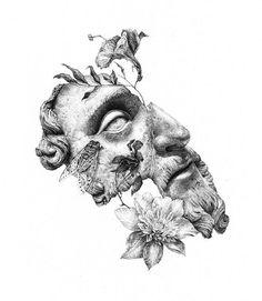 Here reception - illustration - tattoo