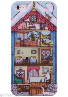 iPhone 5 HARD CASE anime Moomin Valley + FREE Screen Protector (C580-0002)