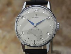 Omega Rare Mens 1950s Stainless Steel 34mm Manual Vintage... for $2,990 for sale from a Trusted Seller on Chrono24