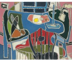 Patrick Heron - Artist, Fine Art Prices, Auction Records for Patrick Heron Still Life Painting, Artist Inspiration, Painting, Post Painterly Abstraction, Art, Textile Fiber Art, Patrick Heron, Figurative Artists, Interesting Art