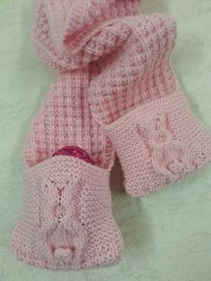 A knitted hat with ears this is great for easter thanks to its hoppity hop scarf i designed for craftee cottage oakleigh melbourne great idea for an easter giftmelbournecottagestoddlers negle Images