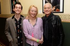 "James, Scarlet and Jimmy at the launch or the ""Resonators"" exhibition at the Royal Albert Hall today . 3/24/14"