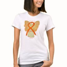 Attention Deficit Hyperactivity Disorder (ADHD) Orange Awareness Ribbon Angel Custom Shirt with Personalized Cause Statement Options Mental Illness Awareness Week, Social Awareness, Create Awareness, Awareness Ribbons, Mental Health Illnesses, Ribbon Shirt, Women's Health, Ladies Day, Custom Shirts