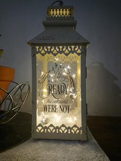 Beautiful lanterns that can be personalised how you want. Whether it be in memory of a loved one, a wedding gift or to have your favourite quote on; these lanterns are absolutely stunning. Feathers and lights are included. $55 each. Other lanterns available, may be subject to price increase. Simply tell us in the descr