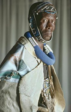 Africa | A man from the Ndebele tribe in South Africa wearing traditional attire. Photo taken in Limpopo Rural | © United Nations Photos