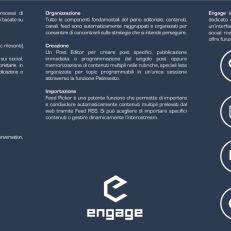 Pieghevole per la startupEngage