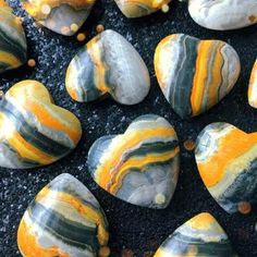 🐝BUMBLEBEE JASPER🐝 is a strong earth energy stone, that embodies within it the strong energy of the volcano from which it was born🌋 Bumble Bee Jasper can encourage change and development in your life and is said to help manifest the impossible✨ Minerals And Gemstones, Crystals Minerals, Rocks And Minerals, Stones And Crystals, Chakra Crystals, Gem Stones, Crystal Magic, Crystal Healing, Rocks And Gems