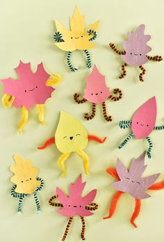 Welcome these printable, posable leaf sprites into your home and expect a little playful mischief! Welcome these printable, posable leaf sprites into your home and expect a little playful mischief! Daycare Crafts, Classroom Crafts, Preschool Crafts, Fun Crafts, Fall Arts And Crafts, Fall Crafts For Kids, Diy For Kids, Diy Craft Projects, Projects For Kids