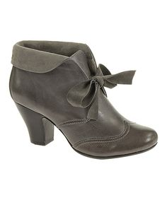 Take a look at this Hush Puppies Gray Leather Lonna Bootie - Women on  zulily today! f11db90d11