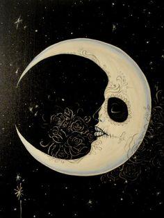 Dia de los muertos moon. #candyskull #moon