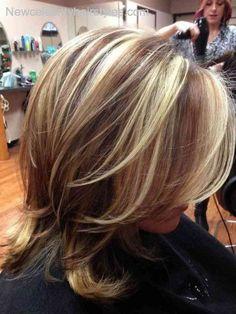 dark brown lowlights in dirty blonde hair - Google Search