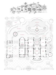 This award-winning design is a perfect home to build in warm climates like Jupiter Island, Florida or San Diego, California and enhances an. House Plans Mansion, Dream House Plans, Villa Design, Modern House Design, Castle Floor Plan, Spanish Mansion, Lake Toys, Florida Villas, Floor Plan Drawing