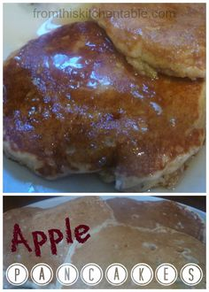 Whole Wheat Apple Pancakes - From This Kitchen Table | Great freezer food!