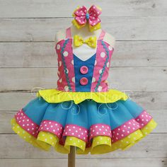 Circus Birthday Outfit Carnival Outfit Girl Girl Clown