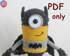 Patron Minion Amigurumi : Patron crochet minion 3 minions pinterest patron crochet