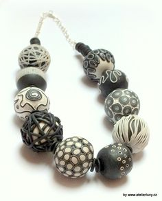 black-white beads - by Lucy Struncova (Atelier Lucy) doesn't link but I love them More