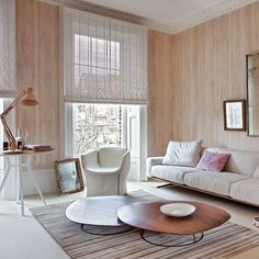 love these simple window treatments