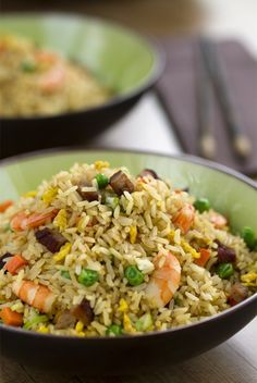 arroz frito, Arroz frito chino yangzhou, arroz tres delicias, cocina china, cocina asiática Rice Recipes, Asian Recipes, Cooking Recipes, Healthy Recipes, Ethnic Recipes, Recipies, Arroz Frito, Couscous, Quinoa