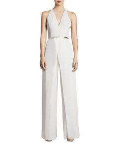 $HALSTON HERITAGE Belted Jumpsuit - Bloomingdale's