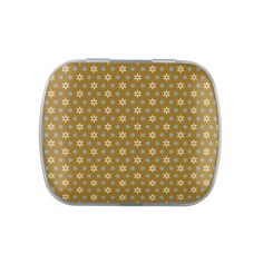 Country Cottage Floral Pattern Jelly Belly Candy Tin