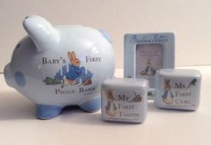 Beatrix Potter Peter Rabbit Baby's First Piggy Bank Frederick Warne & Co 2004  | eBay