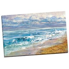 Found it at Wayfair - Sea's Escape square by Bridge Painting Print on Wrapped Canvas
