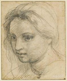 Andrea del Sarto. Estudio de cabeza femenina