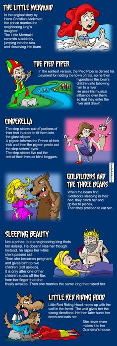 Funny pictures about Original Fairy Tales endings. Oh, and cool pics about Original Fairy Tales endings. Also, Original Fairy Tales endings. Weird Facts, Fun Facts, Random Facts, Awesome Facts, Original Fairy Tales, Right In The Childhood, Childhood Ruined Disney, Childhood Memories, Hilarious