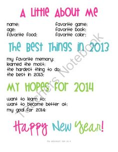 New Years Interview & Writing Prompt  from The Educators Spin On It on TeachersNotebook.com -  (3 pages)  - Celebrate the New Year with this New Year's Interview, Writing Prompt, and Craft Printable