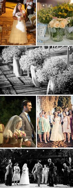 love the pretty florals in this Quirky & Personal DIY Wedding in Jerusalem