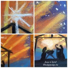 Christmas Nativity Chalk Pastel Art Tutorial