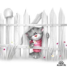 14-Chats en mignonnes illustrations ( A.D)