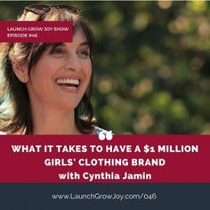 What it takes to have a million dollar girls' clothing brand with Cynthia Jamin