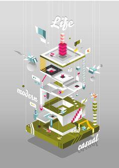 Vector Illustration by Naxo Garcia, via Behance