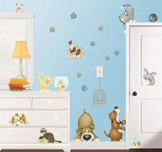 Amazon.com: At the Pet Shop Dogs and Cats Wall Decor Stickers: Home & Kitchen