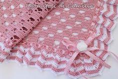 romantica copertina da culla a uncinetto Crochet Doily Diagram, Crochet Blanket Patterns, Baby Blanket Crochet, Crochet Motif, Crochet Doilies, Crochet Stitches, Crochet Baby, Free Crochet, Knit Crochet