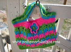 Free crochet pattern: Kitties In A Row Tote Bag