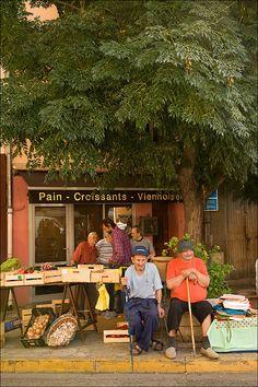 Village locals (France)