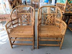 Rattan Bamboo BRIGHTON Style Chairs for the Living Room ;)