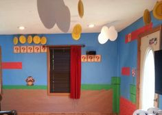 Super Mario Brothers party Yep!! Going to do this for Cyrus in his Bedroom!!