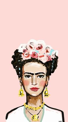 Check out this awesome collection of Frida Kahlo Art Desktop wallpapers, with 45 Frida Kahlo Art Desktop wallpaper pictures for your desktop, phone or tablet. Cute Wallpapers, Wallpaper Backgrounds, Iphone Wallpaper, Pink Wallpaper, Fridah Kahlo, Frida Art, Pattern Wallpaper, Art Inspo, Illustration Art