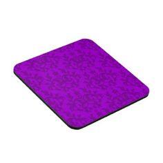 "Damask purple ""Kangaroo Paws"" set of 6 coasters by My Little Eden"