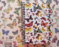 Butterflies Spiral Notebook 4 x 6 by Ciaffi on Etsy, $10.00