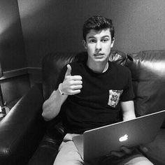 """Imagine: shawn was looking through the people who tweeted him after the concert where he performed his new song for the first time. Even though you thought it was a good song, there was more negative than positive feedback. He looked horrified so you asked """"you okay sweetie?"""" He does this. Hes not really okay, just trying to avoid talking about it."""