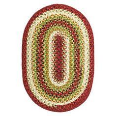 "Homespice Decor Cotton Braided Sante Fe Sunrise Area Rug Rug Size: Oval 2'3"" x 4'"