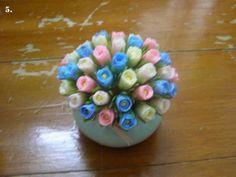 Cara Membuat Bunga dari Sedotan Plastik yang Mudah