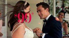 AbanCommercials: David's Bridal TV Commercial  • David's Bridal advertsiment  • $99 Sale • David's Bridal $99 Sale TV commercial • Now through January 17, select wedding dresses originally $300-$600 are now $99. Don't miss out on the dress of your dreams at a price you will love.0:00 now through january 17 at david's bridal0:02 select wedding dresses originally 300 to0:05 600 dollars are just ninety nine dollars0:07 plus take twenty dollars off bridesmaid0:09 dresses to m...