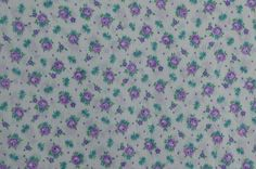 Vintage Cotton Fabric Cotton Floral Fabric by #TheFabricScore www.thefabricscore.etsy.com