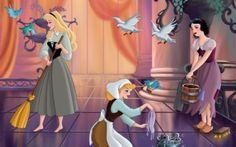Disney Princesses - Walt Disney, Disney, Sleeping Beauty, Aurora, Cinderella, Cartoon, White Snow, Aurora and Snow White, Disney Cartoon, Disney Movie