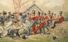 'The Death of Captain Neal McNeale at the Battle of York, 27 April 1813' by B.T.A. Griffiths, c. 1930. City of Toronto Museum Services.